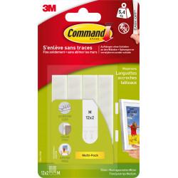 Lot de 24 languettes adhésives Tableaux COMMAND, blanc de marque COMMAND, référence: B6294100