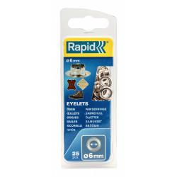 Lot de 25 oeillets acier Diam.6 RAPID de marque RAPID, référence: B6294900