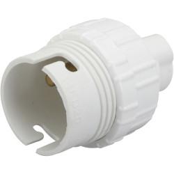 Lot de 3 douilles électriques b22 a baïonette pvc blanc ZENITECH de marque ZENITECH, référence: B6296500
