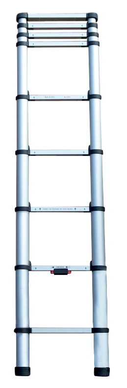 Echelle télescopique KOMPACT 9 barreaux - hauteur de travail 2,65m