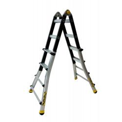 Echelle télescopique pliante TT4 4x4 barreaux de marque CENTAURE , référence: B6314300