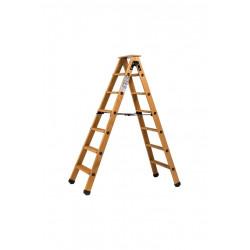 Escabeau double accès bois 2x6 marches + tablette - hauteur de travail 2,90m de marque CENTAURE , référence: B6314700
