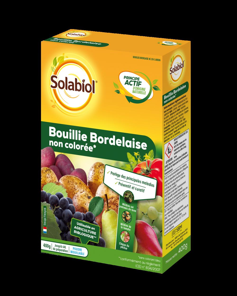 Bouillie bordelaise SOLABIOL, pour arbres fruitiers et légumes, 400G