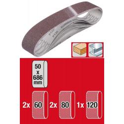 Set de 5 bandes à poncer 50 x 686 mm de marque KWB, référence: B6330100