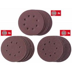 Set de disques de ponçage125mm de marque KWB, référence: B6334500