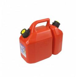 Jerrican double usage qualité pro d'une contenance de 2,25 + 6 litres de marque Centrale Brico, référence: B6350100