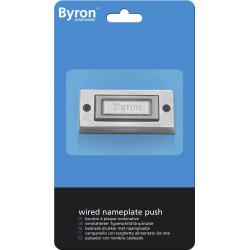 Bouton de sonnette filaire BYRON 3333bs de marque Centrale Brico, référence: B6364200