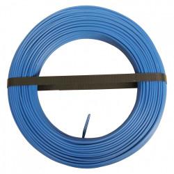 Fil électrique 1.5 mm² h07vu, en couronne de 100M bleu de marque Centrale Brico, référence: B6372300