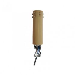 Bougie équipée E14 TIBELEC, plastique, beige 60 W de marque Centrale Brico, référence: B6379300