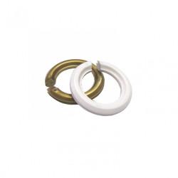 Lot de 2 bagues abat-jour B22 / E14 TIBELEC, plastique, or et blanc de marque Centrale Brico, référence: B6380100