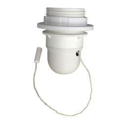 Douille 1/2 fil et baguette E27 TIBELEC, plastique, blanc 60 W de marque Centrale Brico, référence: B6383900