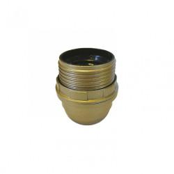 Douille 1/2 filetée E27 TIBELEC, plastique, or 60 W de marque Centrale Brico, référence: B6384200
