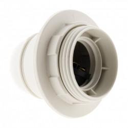 Douille E27 filete polyester blanc de marque Centrale Brico, référence: B6384400