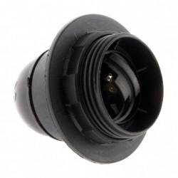 Douille E27 filete polyester noir de marque Centrale Brico, référence: B6384500