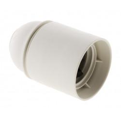 Douille E27 plastique lisse blanc HBF de marque Centrale Brico, référence: B6384600