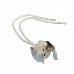 Douille électrique a baïonette GU5.3 céramique, blanc de marque Centrale Brico, référence: B6384700