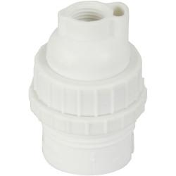 Douille électrique à vis B22 nylon, blanc de marque Centrale Brico, référence: B6384800