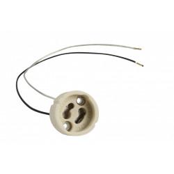 Douille électrique e14 a baïonette céramique blanc ivoire de marque Centrale Brico, référence: B6384900