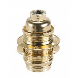 Douille électrique e14 à vis fer dorée de marque Centrale Brico, référence: B6385000