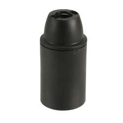 Douille électrique e14 à vis thermoplastique noir de marque Centrale Brico, référence: B6385300