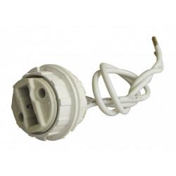 Douille filetée et bagues pour halogène G9 TIBELEC, plastique, blanc 100 W de marque Centrale Brico, référence: B6385600