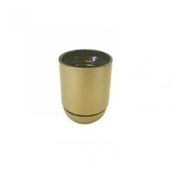 Douille lisse E27 TIBELEC, plastique, or 60 W de marque Centrale Brico, référence: B6386000