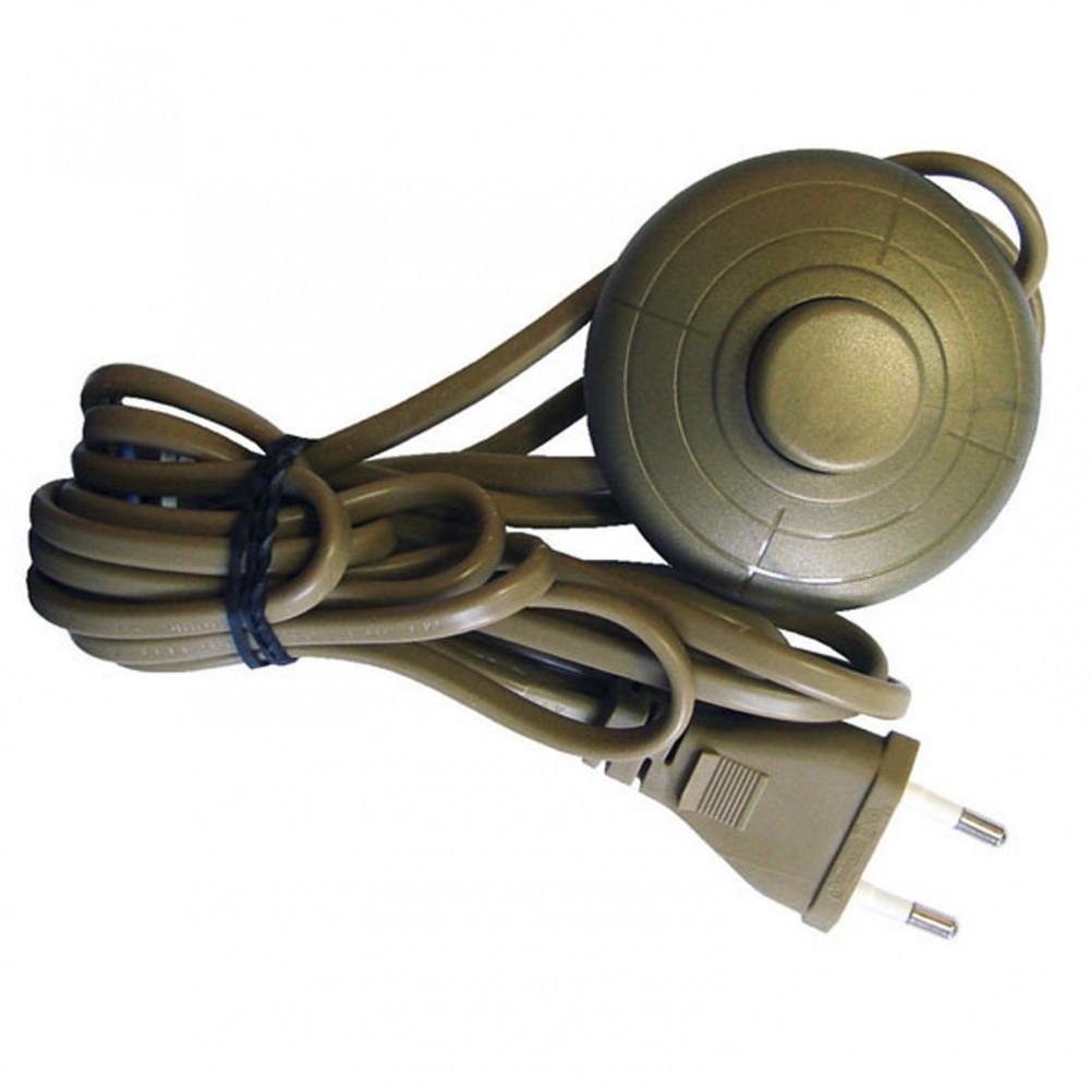 Cordon et interrupteur TIBELEC, plastique, or 500 W
