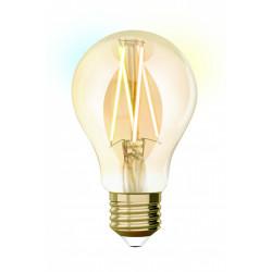 Ampoule intelligente led filament ambré std E27 806Lm 60W variation blanc, Idual de marque Centrale Brico, référence: B6392200