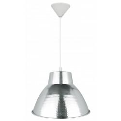 Suspension, e27 style industriel Zipy aluminium chromé 1 x 60 W de marque Centrale Brico, référence: B6395900