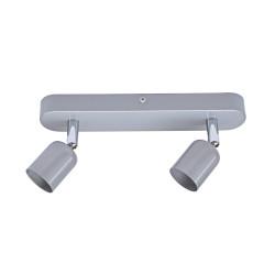 Rampe 2 spots, fer gris Basic de marque Centrale Brico, référence: B6396700