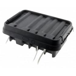 Boîte de raccordement étanche noir de marque Centrale Brico, référence: B6399400