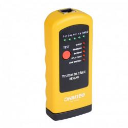 Testeur de câble réseau OHMTEC de marque Centrale Brico, référence: B6399600