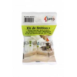 Kit accessoires finition de plinthes pass'fil blanc Biafa de marque Centrale Brico, référence: B6401900