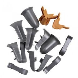 Kit accessoires finition de plinthes pass'fil chêne gris aluminium de marque Centrale Brico, référence: B6402000