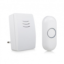 Sonnette sans fil BYRON enfichable DBY, blanc de marque Centrale Brico, référence: B6402400