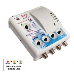 Amplificateur intérieur terrestre 4 sorties 23DB ELAP de marque Centrale Brico, référence: B6403200