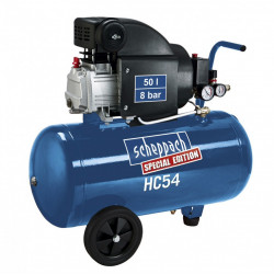 Compresseur d'atelier lubrifié à huile SCHEPPACH HC54, 50 l, 2 cv de marque Centrale Brico, référence: B6405100