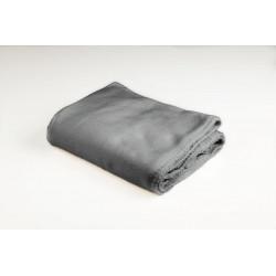 Plaid Kyoto, gris l.100 x L.150 cm de marque Centrale Brico, référence: B6407300
