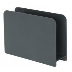 Porte-éponge plastique aspect gomme gris-gris n°1 de marque Centrale Brico, référence: B6409600