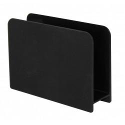 Porte-éponge plastique aspect gomme noir-noir n°0 de marque Centrale Brico, référence: B6409700