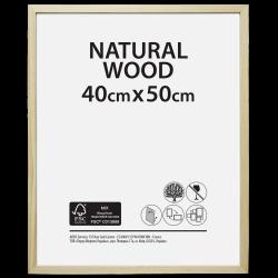 Cadre Bois brut, 40 x 50 cm, naturel de marque Centrale Brico, référence: B6409900