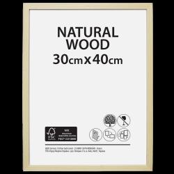 Cadre Brut, l.30 x H.40 cm, bois naturel de marque Centrale Brico, référence: B6410400