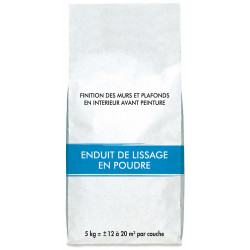 Enduit de lissage 5 kg en poudre, pour plaque de plâtre de marque Centrale Brico, référence: B6411300