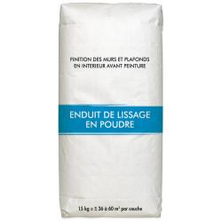 Enduit de rebouchage 15 kg en poudre, pour plaque de plâtre de marque Centrale Brico, référence: B6411700