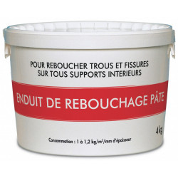 Enduit de rebouchage 4 kg en pâte intérieur de marque Centrale Brico, référence: B6411800