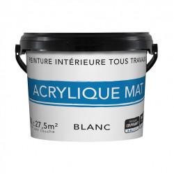 Peinture mur et plafond blanc mat, 3 l de marque Centrale Brico, référence: B6414900