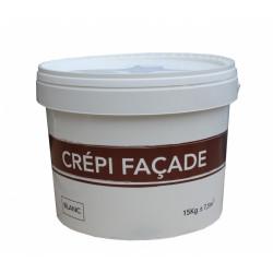 Crépis façade, blanc, mat, 15 kg de marque Centrale Brico, référence: B6423600