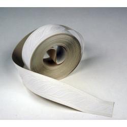 Galon, vinyle expansé adhésive Vague, l.3.5 cm x L.10 m, blanc de marque Centrale Brico, référence: B6424600