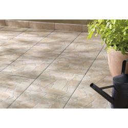 Carrelage sol extérieur medio effet pierre beige Opus l.35 x L.35 cm de marque Centrale Brico, référence: B6429700