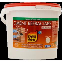 Ciment réfractaire, PYROFEU, 3.5 kg de marque Centrale Brico, référence: B6438700